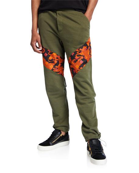 MCM Men's Camo-Stripe Straight Sweatpants
