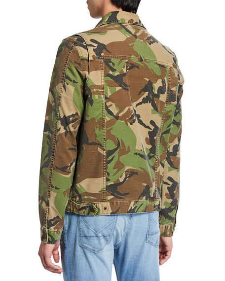 Hudson Men's Camo Twill Zip-Front Jacket