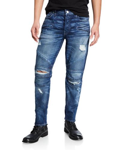Men's The Blinder Distressed Biker Jeans
