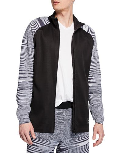 Men's x Missoni PHX Striped-Knit Zip-Front Jacket