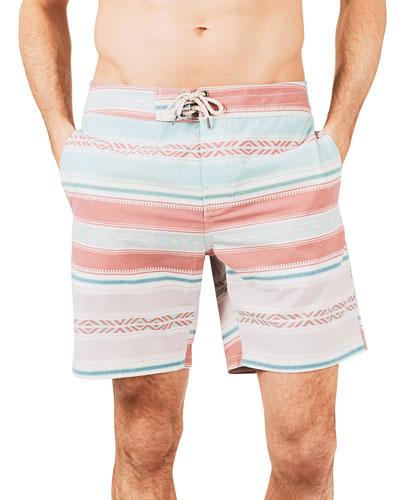 Men's Classic 7 Striped Boardshorts