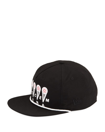 Men's Logo-Typographic Baseball Hat