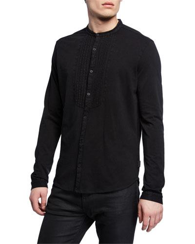Men's Heath Pleated-Bib Sport Shirt