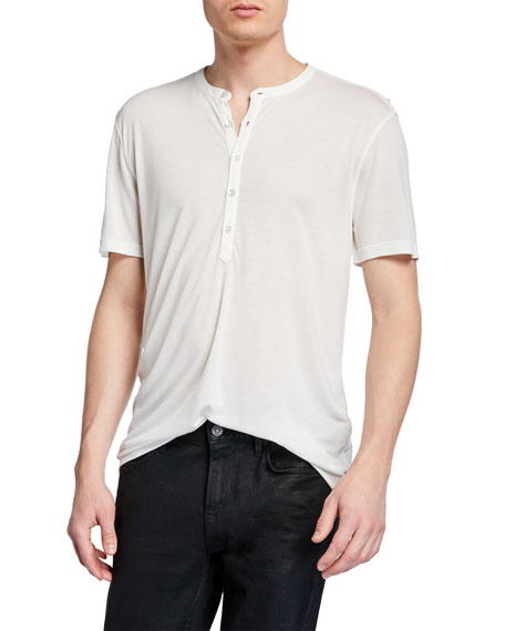 John Varvatos T-shirts MEN'S CLIFTON SHORT-SLEEVE HENLEY SHIRT
