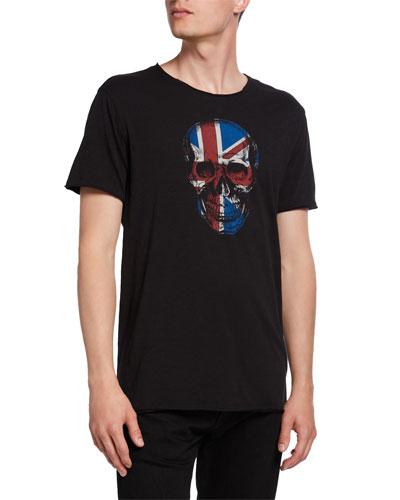 Men's Union Jack Skull Graphic T-Shirt