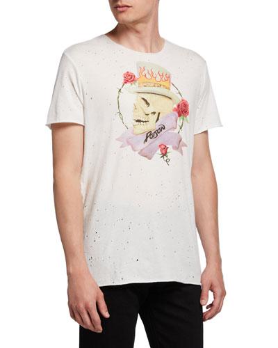 Men's Poison Skull Graphic Band T-Shirt