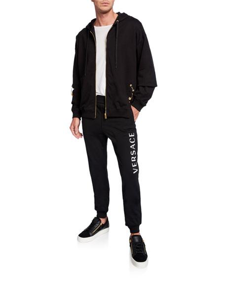 Versace Men's Logo Typographic Sweatpants