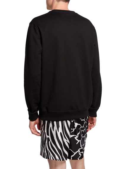 Versace Men's Logo Graphic Cotton Sweatshirt
