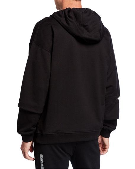 Versace Men's Safety-Pin Zip-Front Hoodie
