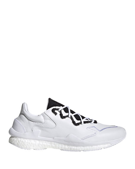 Y-3 Men's Adizero Leather Running Sneakers w/ Contrast Stitching