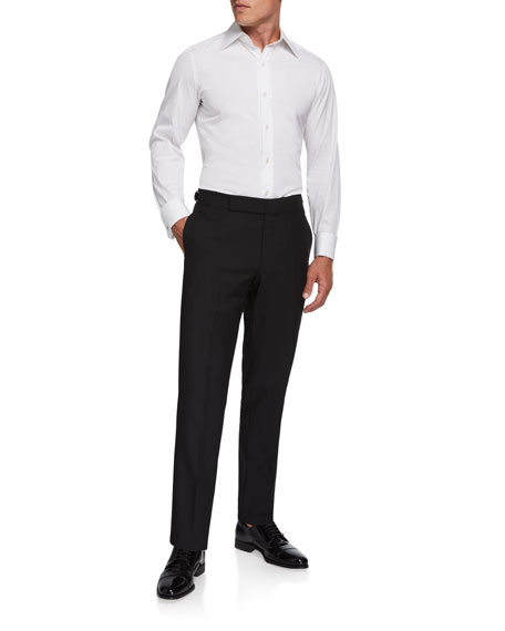 Ermenegildo Zegna Men's Formal Wool/Mohair Dress Pants