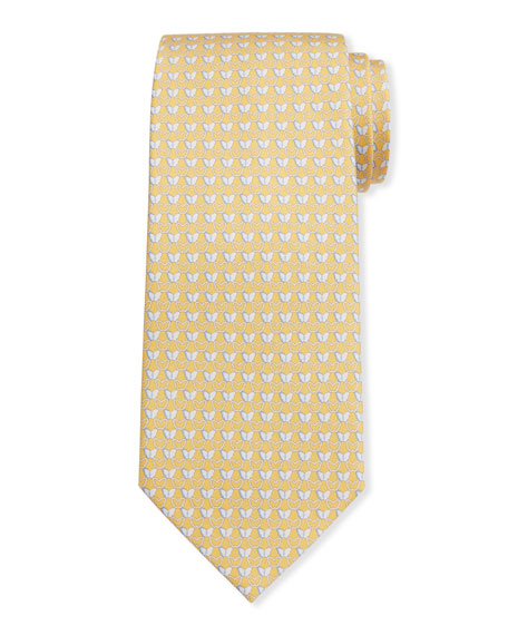 Salvatore Ferragamo Men's Insetto Butterfly Silk Tie 7