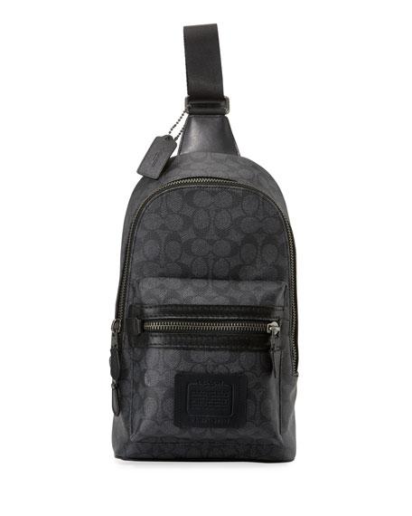 Coach Men's Academy Logo-Print Crossbody Backpack