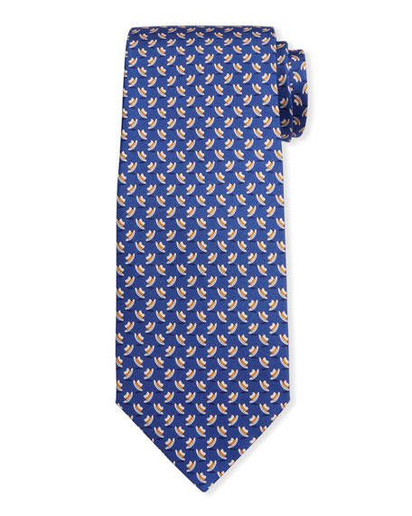 Salvatore Ferragamo Men's Isola Hats Silk Tie 2
