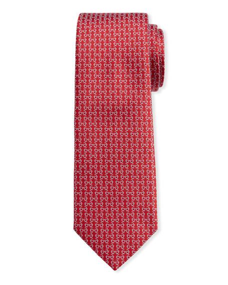 Salvatore Ferragamo Men's Ibiza Silk Sunglasses Tie, Red In F.rosso