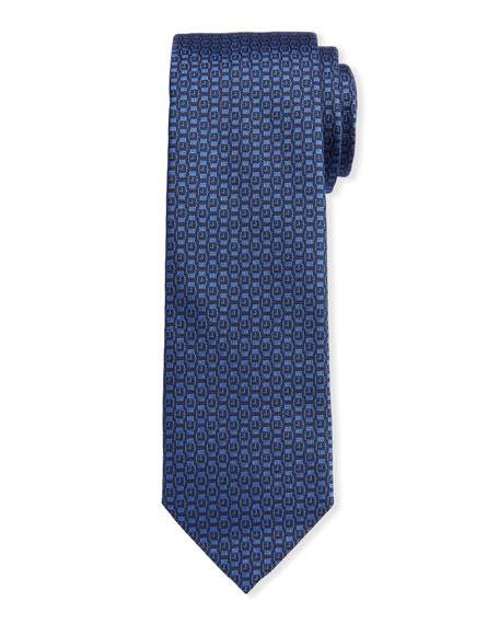 Salvatore Ferragamo Men's Ischi Silk Watches Tie, Blue In F. Blue Notte