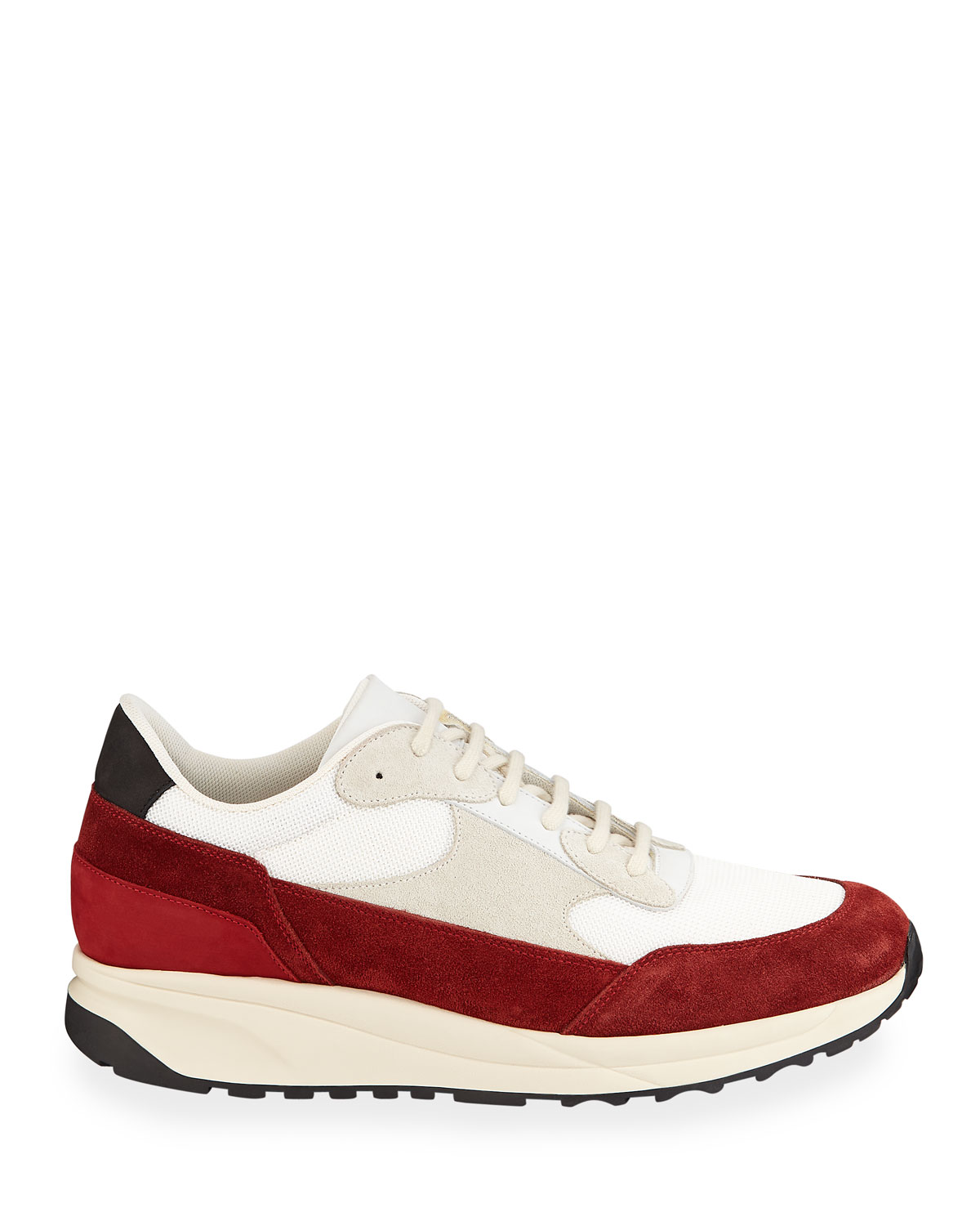 Men's Track Classic Colorblock Suede Sneakers by Common Projects
