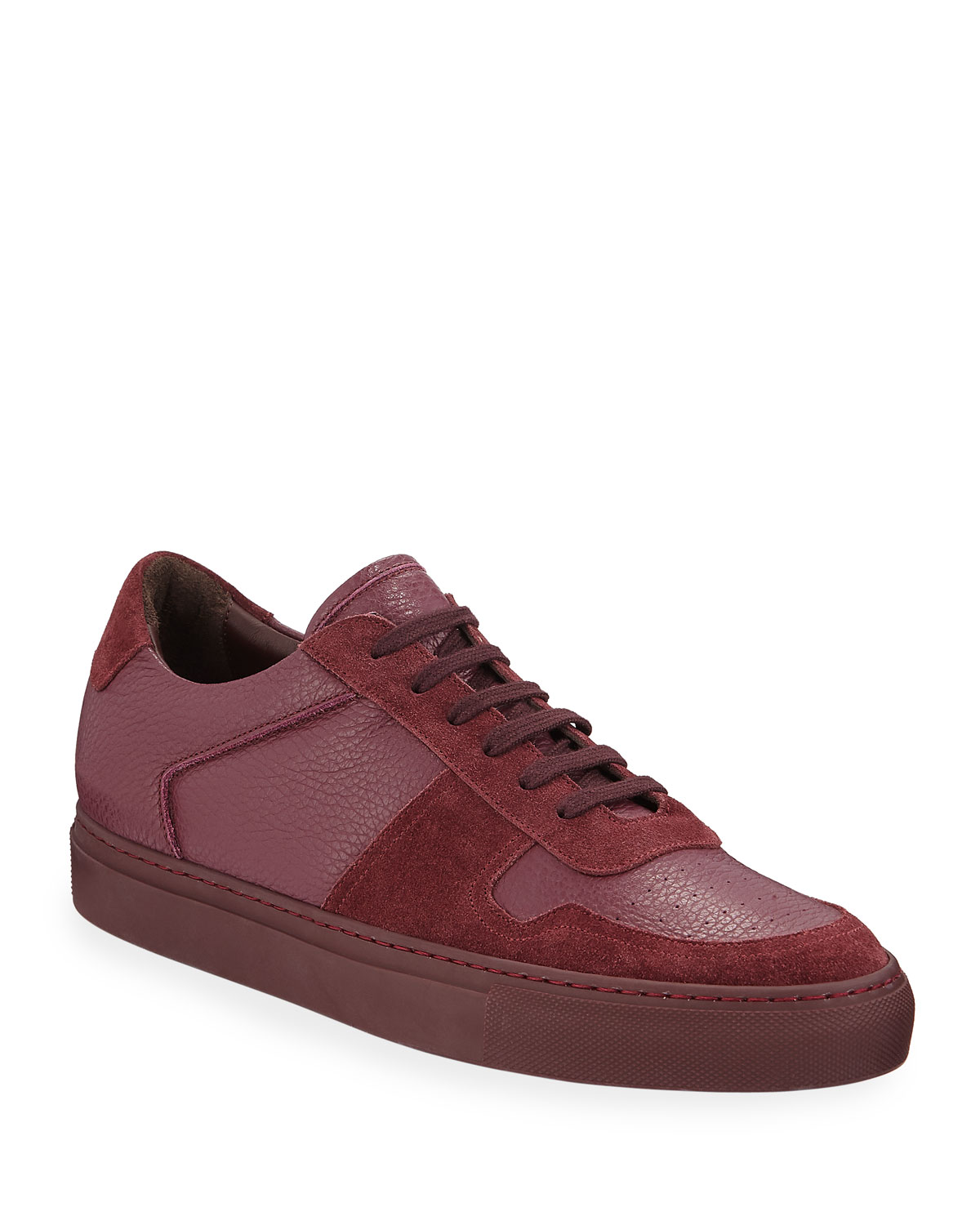 BBall Low-Top Leather Sneakers
