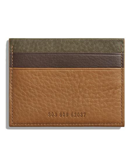 Shinola Men's Colorblock Leather Card Case