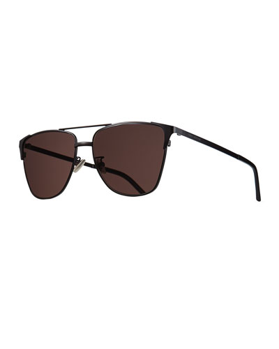 Men's Metal SL 280 Rectangle Sunglasses