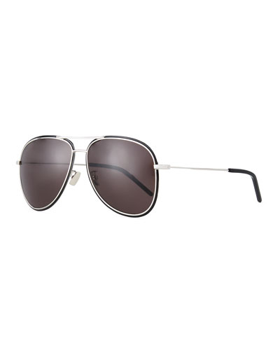 Men's SL 294F Metal Aviator Sunglasses