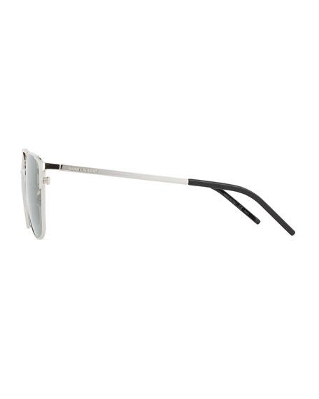 Saint Laurent Men's SL 280 Double-Bridge Sunglasses, Silver