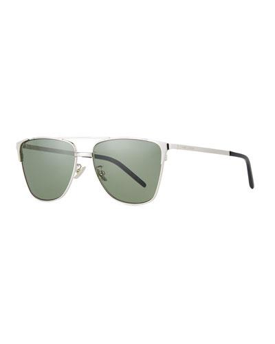 Men's SL 280 Double-Bridge Sunglasses  Silver