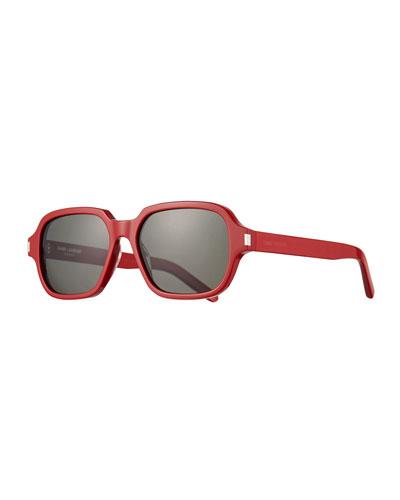 Men's SL 292 Rectangle Acetate Sunglasses