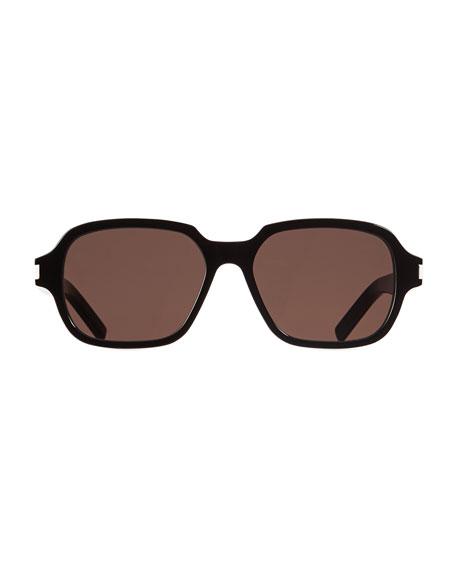 Saint Laurent Men's SL 292 Rectangle Acetate Sunglasses