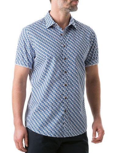 Men's Amristar Parrot-Print Shirt