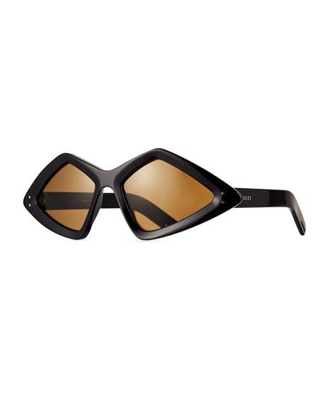 Gucci Men's Geometric Acetate Sunglasses