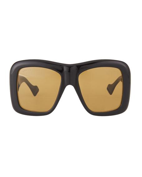 Gucci Men's GG0498S Oversized Rectangle Sunglasses