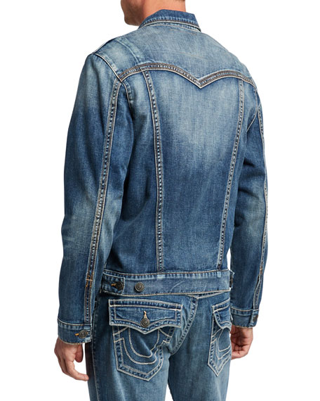 True Religion Men's Jimmy Embroidered Denim Jacket