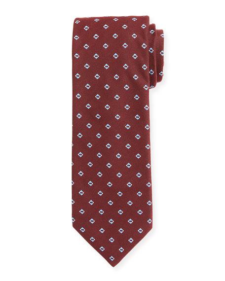 BOSS Men's Silk-Blend Diamond Pattern Tie
