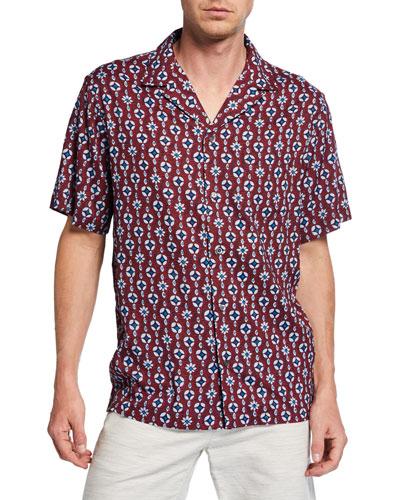Men's Eye See U Graphic Camp Shirt
