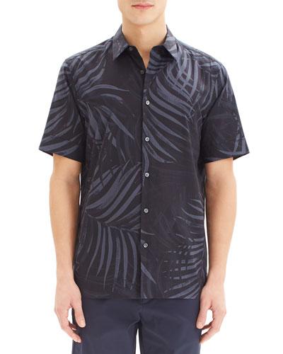 Men's Menlo Saygo Palm-Print Short-Sleeve Sport Shirt