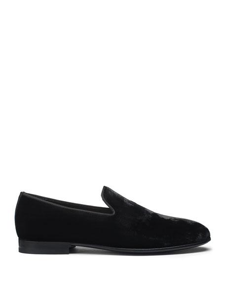 Santoni Men's Logan Velvet Loafers