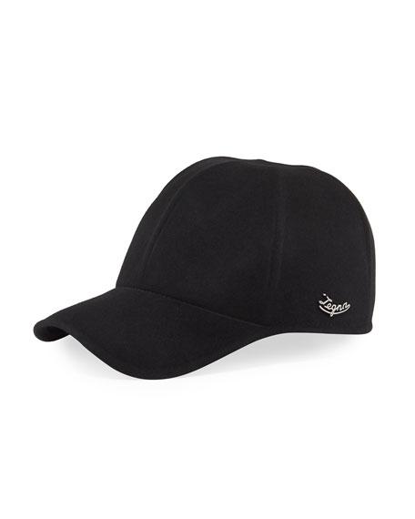 Ermenegildo Zegna Men's Solid Baseball Cap w/ Side Logo