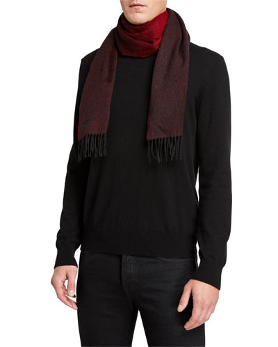 Men's Ombre Silk Fringed Scarf