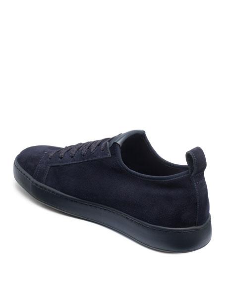 Santoni Men's Suede Slip-On Stretch Sneakers