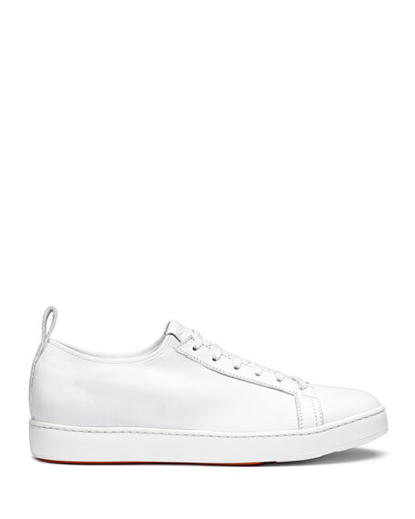 Santoni Men's Clean Iconic Stretch Leather Sneakers