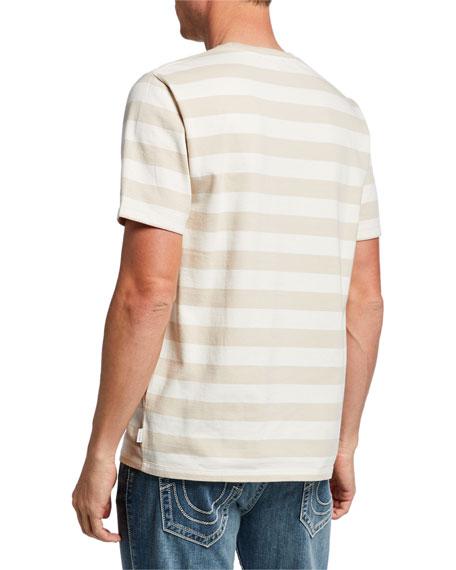 FRAME Men's Striped Crewneck Pocket T-Shirt