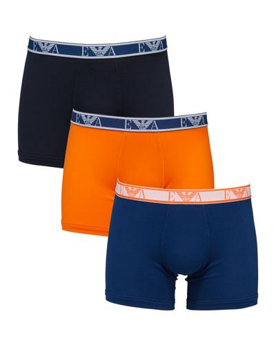 Men's 3-Pack Stretch-Cotton Boxer Briefs