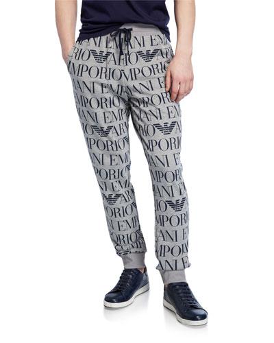 Men's Logo Graphic Drawstring Trousers