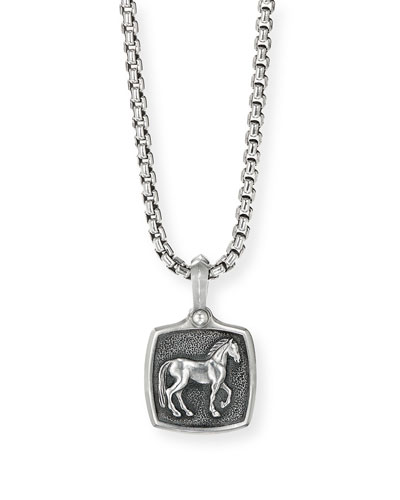Men's Petrvs Sterling Silver Horse Amulet