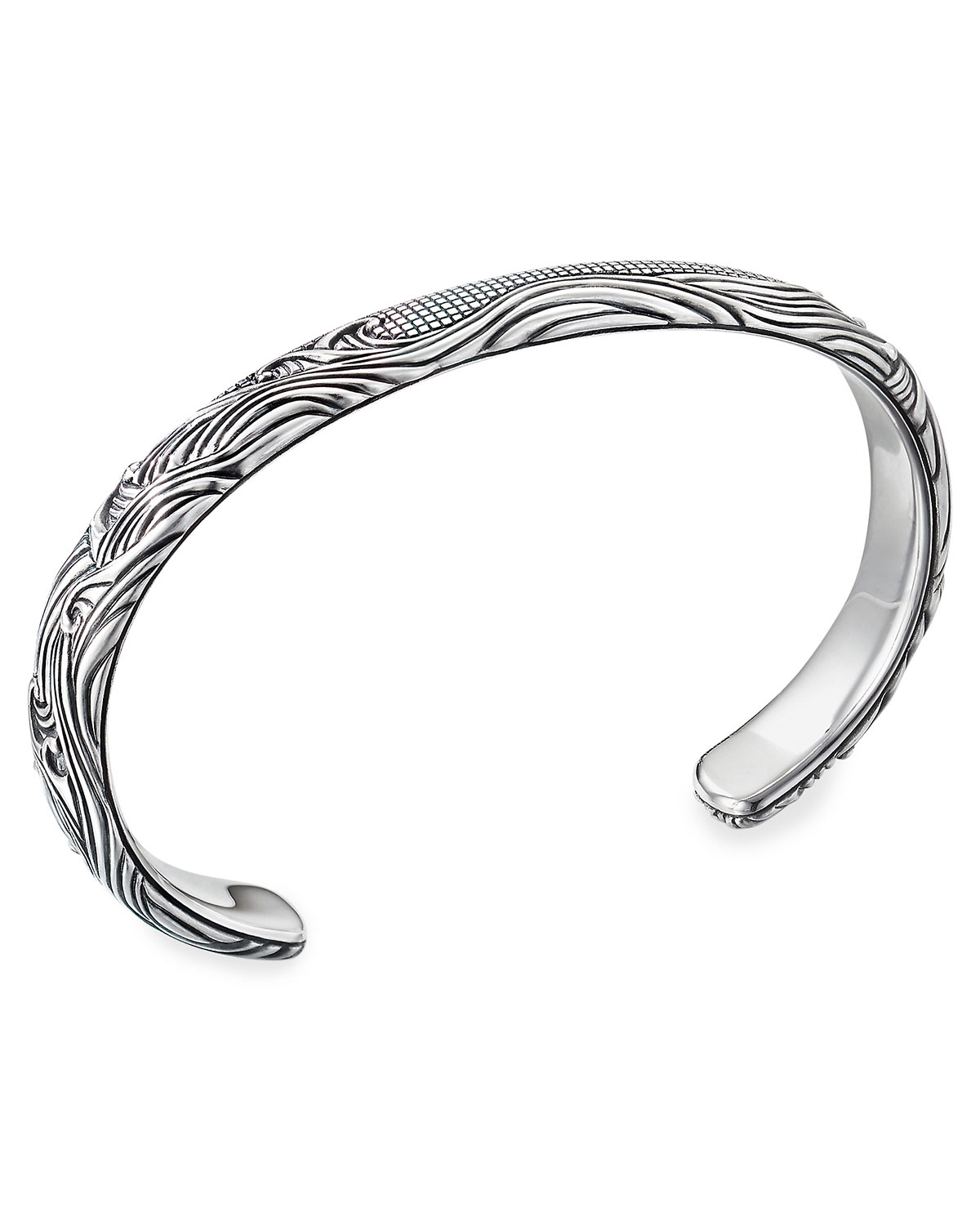 David Yurman Men's Waves Silver Cuff Bracelet