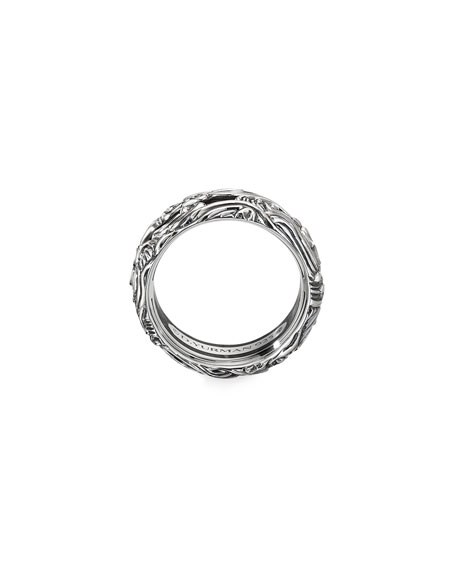 Image 3 of 3: David Yurman Men's Waves Sterling Silver Band Ring, Size 9-12