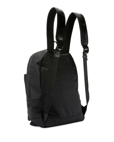 Kenzo Men's Solid Nylon Backpack with Logo Embroidery
