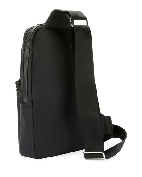 Kenzo Men's One-Shoulder Backpack with Logo Typographic