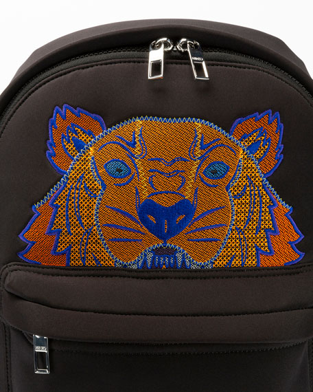 Kenzo Men's Tiger-Embroidered Rucksack Backpack